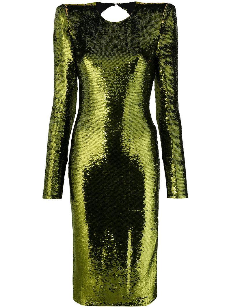 0edd38233b6b3 Alexandre Vauthier Sequin Open Back Fitted Dress