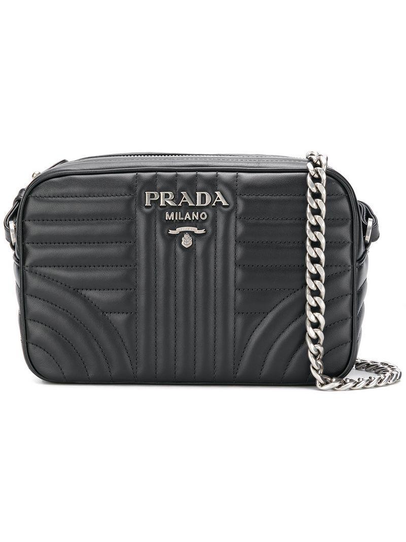 PRADA Pink Diagramme Leather Cross Body Bag 80f9dfa32f440