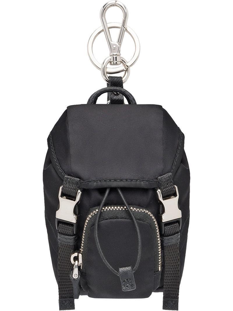 1da2e8f7473 Prada Black Nylon Mini Bag Keyring