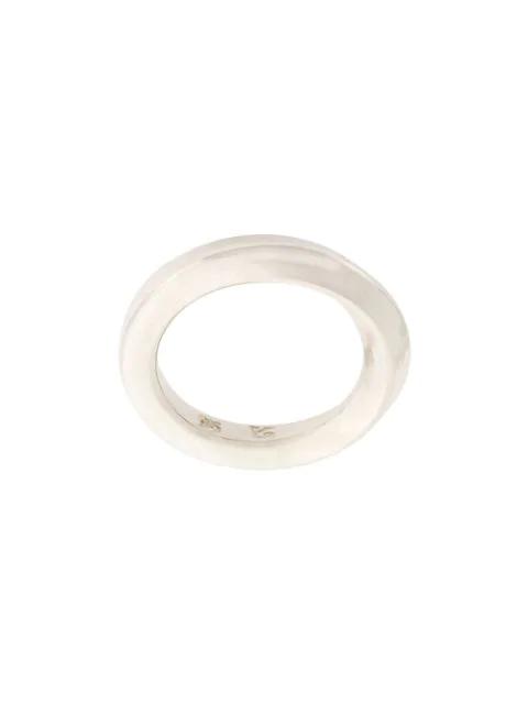 Werkstatt:münchen Twisted Ring In Metallic