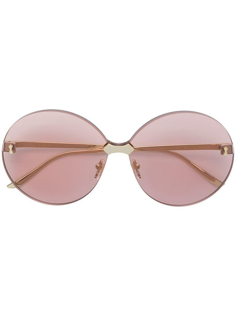 3441a61ad78 Gucci Eyewear Round Frame Sunglasses - Pink In Pink   Purple