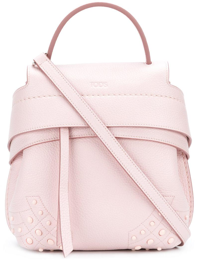 51c23000aa Tod's Wave Mini Backpack - Pink In Pink & Purple | ModeSens