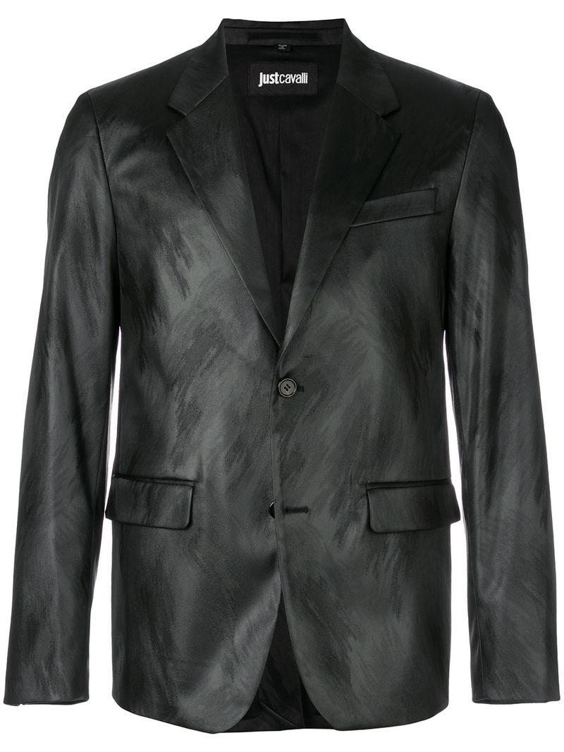 Just Cavalli Patterned Blazer - Black
