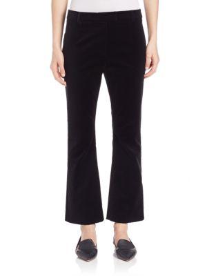 dac73f0adb2b Frame Velvet Cropped Velvet Flared Pants In Black | ModeSens