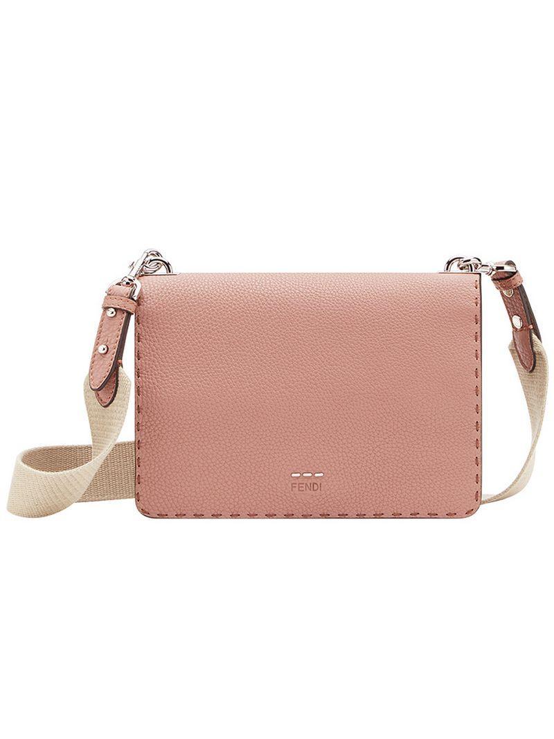 3246601e1f14 Fendi Messenger Shoulder Bag - Pink