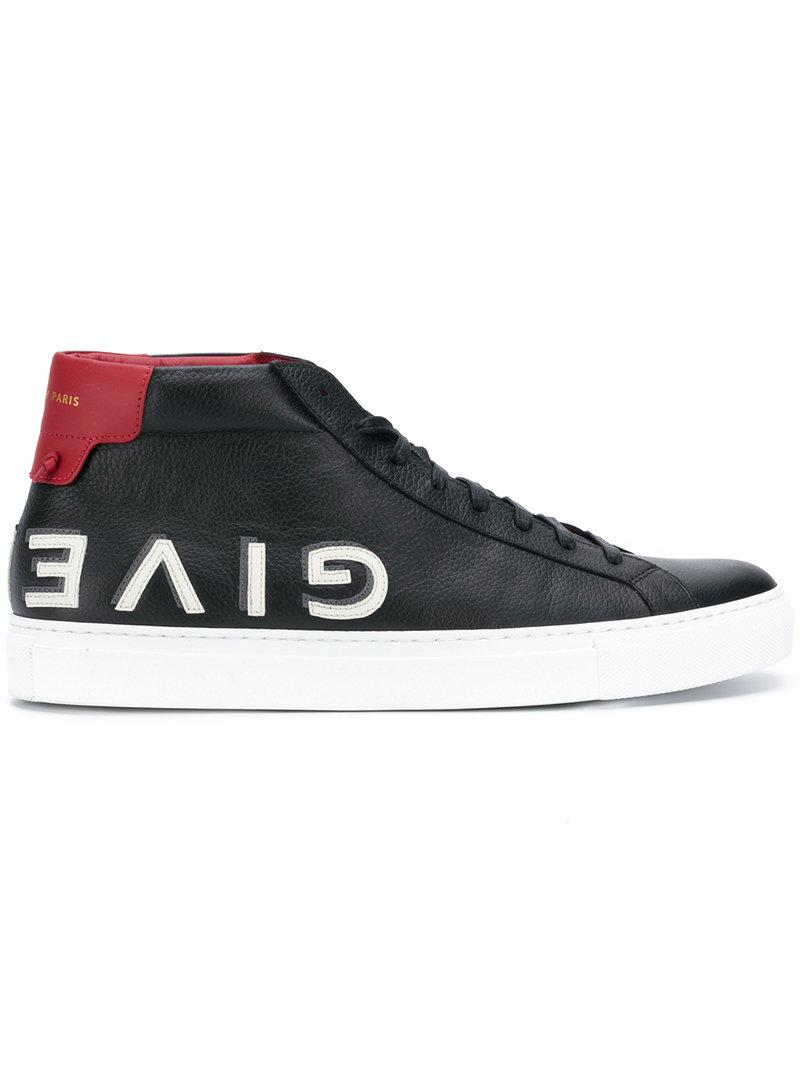 Givenchy Leather Urban High-top Sneakers In Black