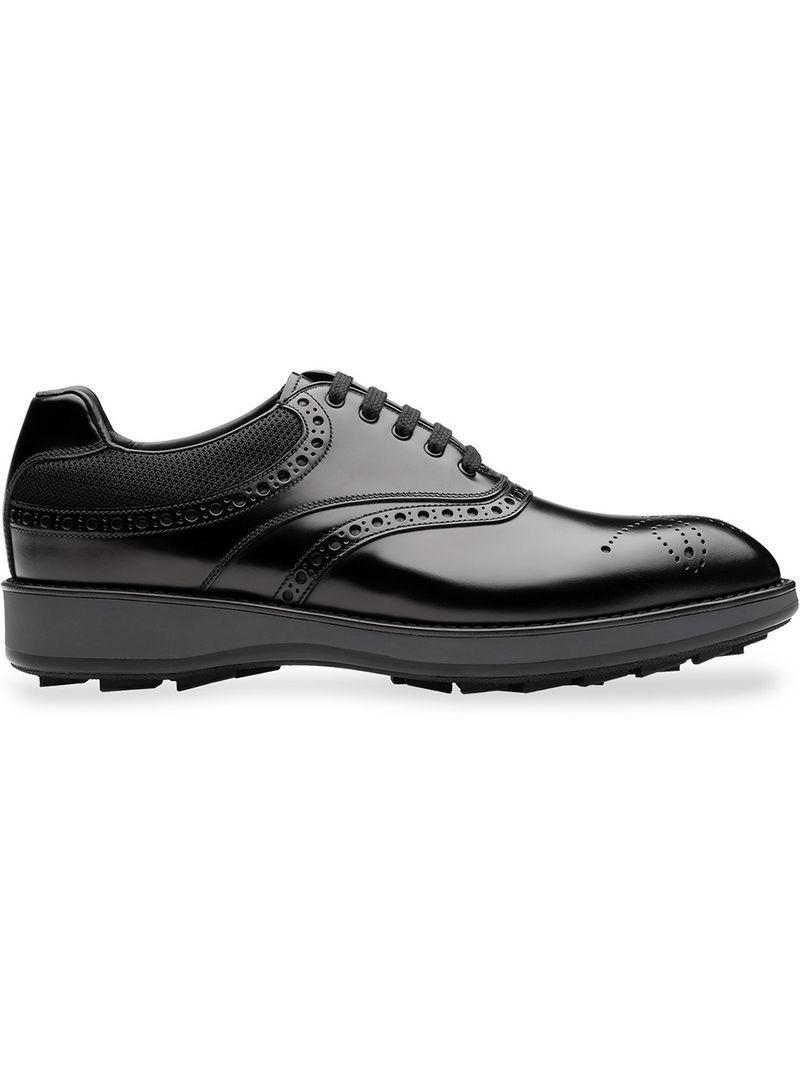 Prada Platform Brogues In Black