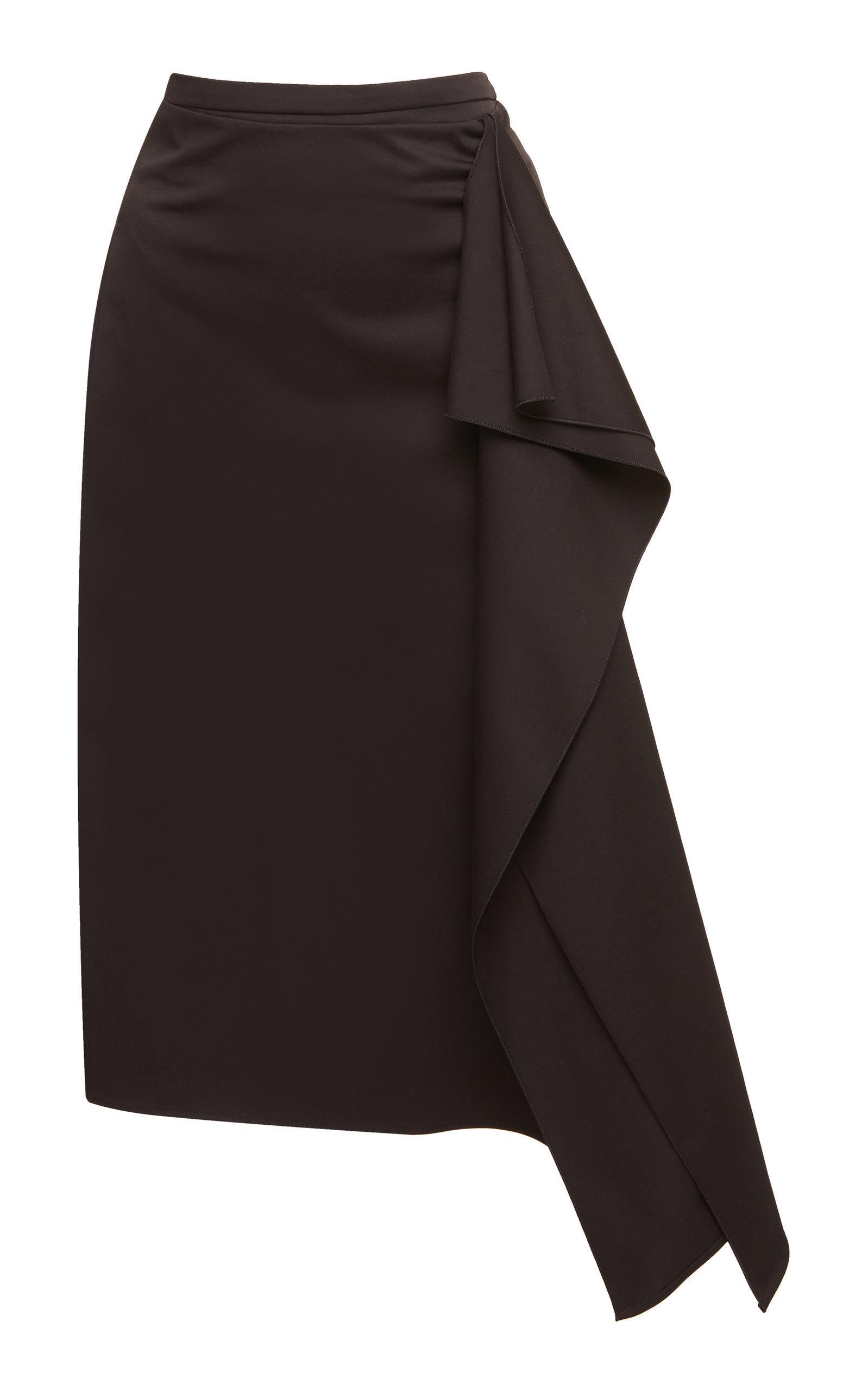 b4f98f5da Rochas Ortica Ruffle Pencil Skirt In Black   ModeSens