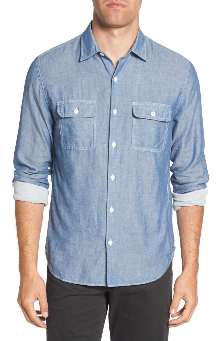 05ab04dcabb Bonobos Slim Fit Solid Sport Shirt In Chambray Blue