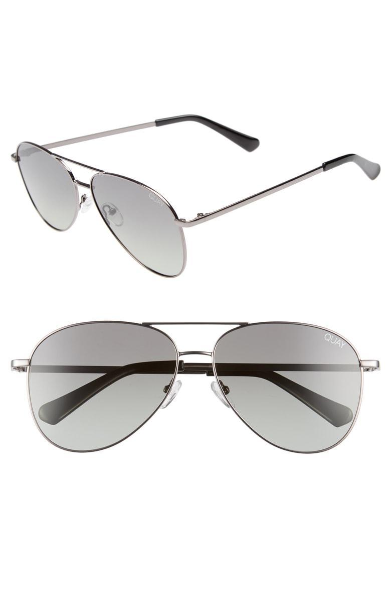 9a5749967 Quay Still Standing 60Mm Aviator Sunglasses - Gunmetal / Green Fade Lens