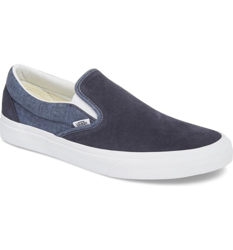 29c8fce9ca Vans  Classic  Slip-On Sneaker In Parisian Night Suede