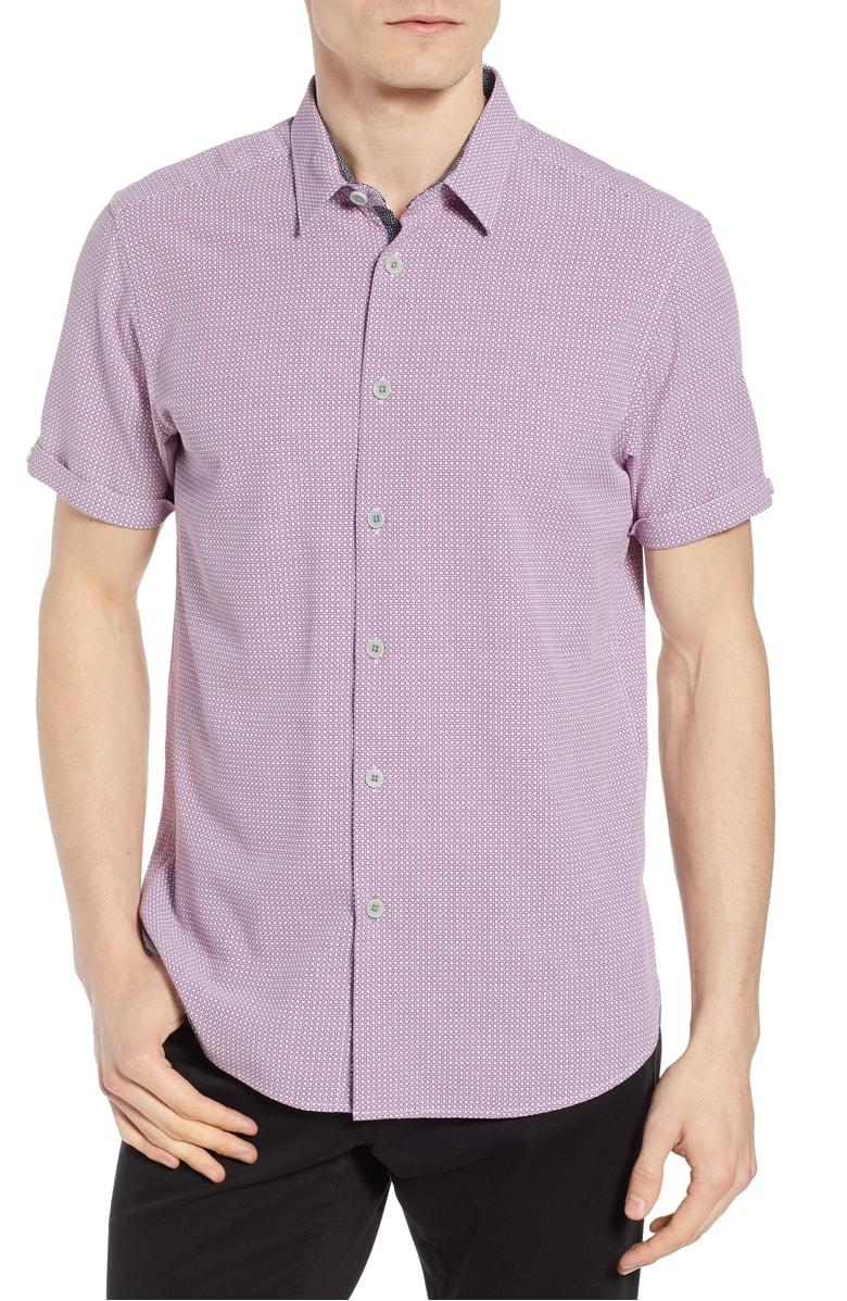 87c5d3c369742a ... sport shirt cut from a breezy modal blend and fitted with lustrous