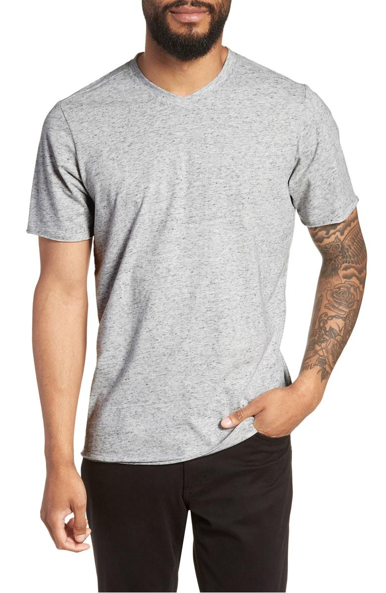 b90a136b78252 Good Man Brand Slim Fit V-Neck T-Shirt In Silver Heather | ModeSens