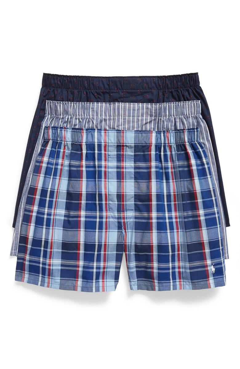 9df4c20ac656 Polo Ralph Lauren Classic Fit Woven Boxer - Pack Of 3 In James Plaid/Harrods