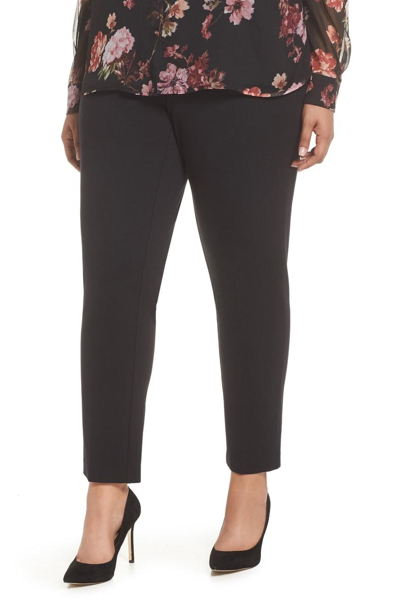 238bf6c272ed7 Vince Camuto High Rise Ankle Skinny Ponte Pants In Rich Black | ModeSens