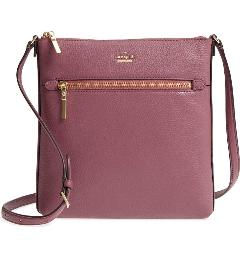 9ead8a4eb4 Kate Spade Oakwood Street - Malia Leather Crossbody Bag - Purple In Plum  Berry