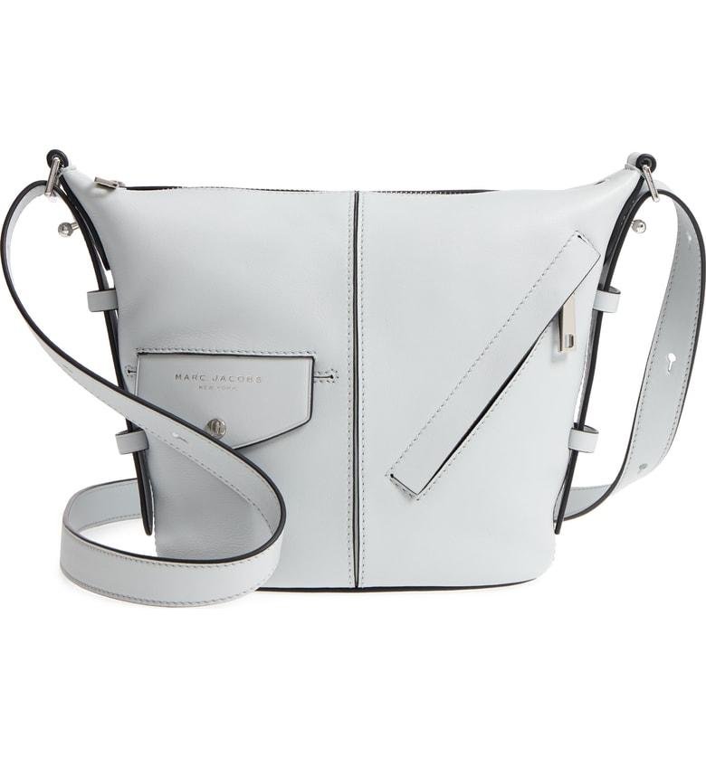 d597cae62c88fe Marc Jacobs The Mini Sling Convertible Leather Hobo - Grey In Light Grey