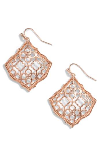05bec6ef5d0549 Kendra Scott Kirsten Filigree Wire Drop Earrings In Rose Gold | ModeSens