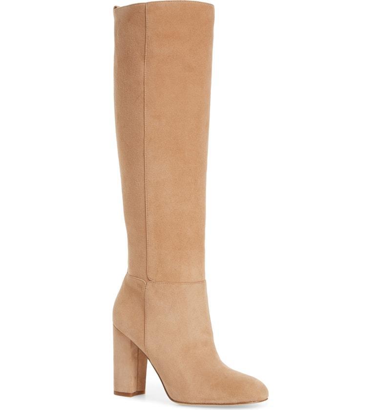 a9fa8dd379c Sam Edelman Caprice Knee-High Boot In Golden Caramel Suede