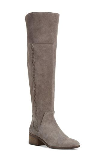 29aefcae5c3d Vince Camuto Kochelda Over The Knee Boot In Greystone Suede