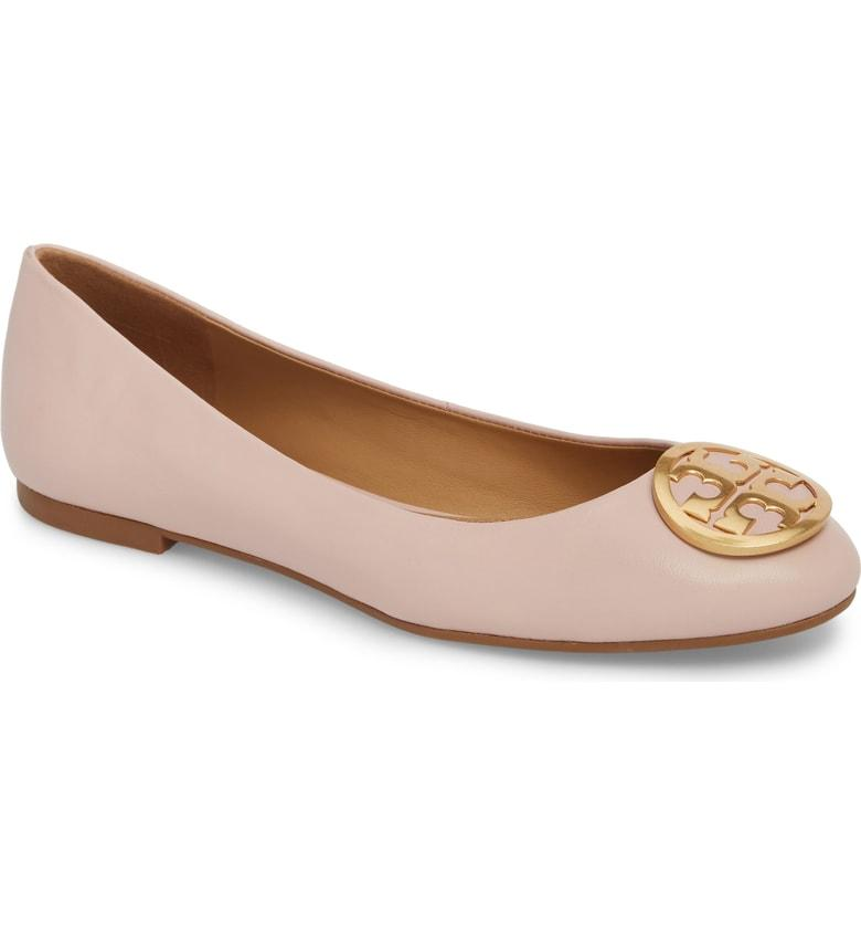 a36d84dbd7e2ab Tory Burch Benton Ballet Flat In Sea Shell Pink. Nordstrom