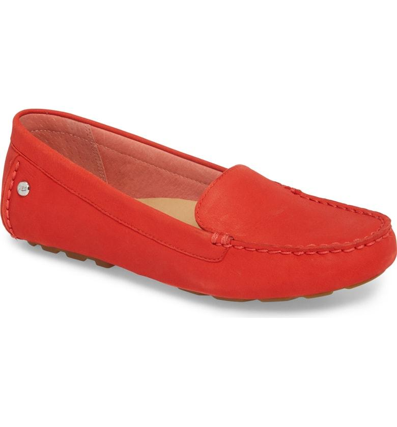 a79f7e991 Ugg Milana Ii Moc Toe Flat In Red Nubuck | ModeSens