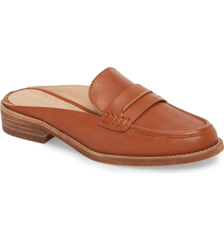 abac7047df6 Madewell The Elinor Loafer Mule In English Saddle Leather