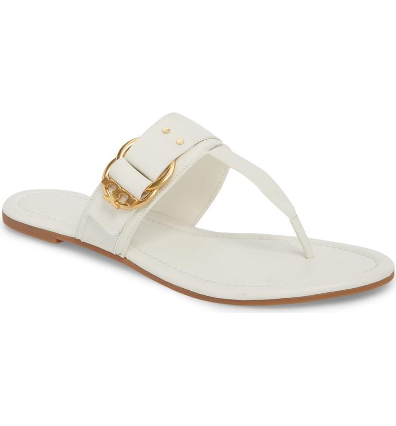 b63c88a0ac8 Tory Burch Marsden Flat Thong Sandal In Perfect Ivory
