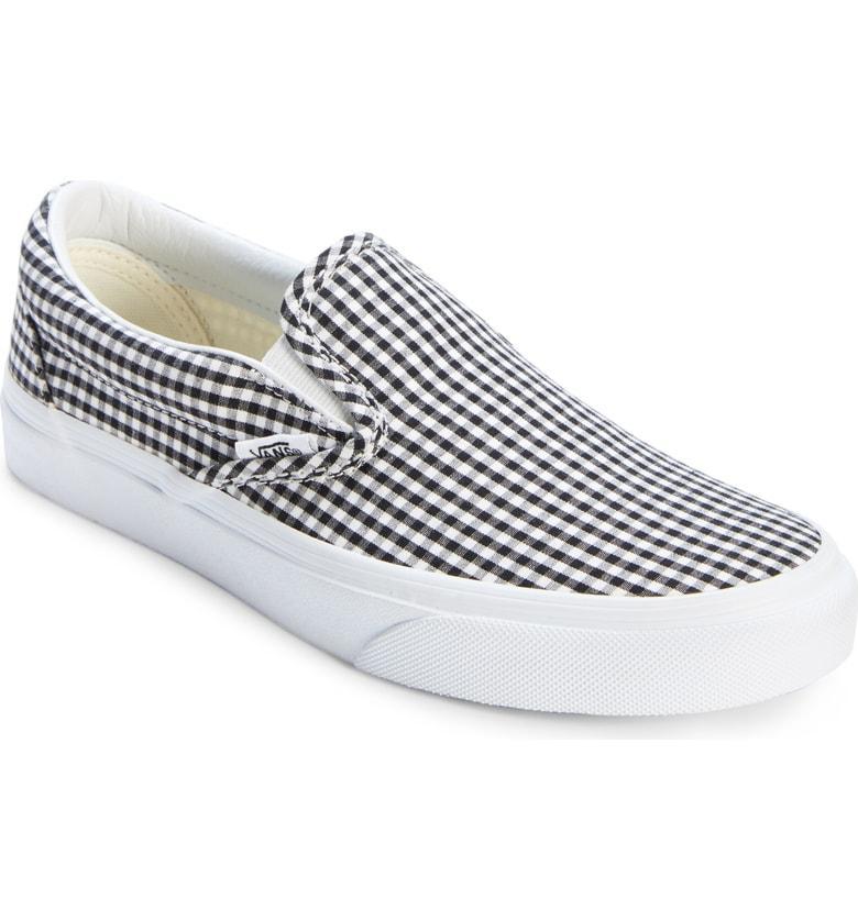 a20b58fde0f45e Vans Classic Slip-On Sneaker In Black  True White Gingham. Nordstrom