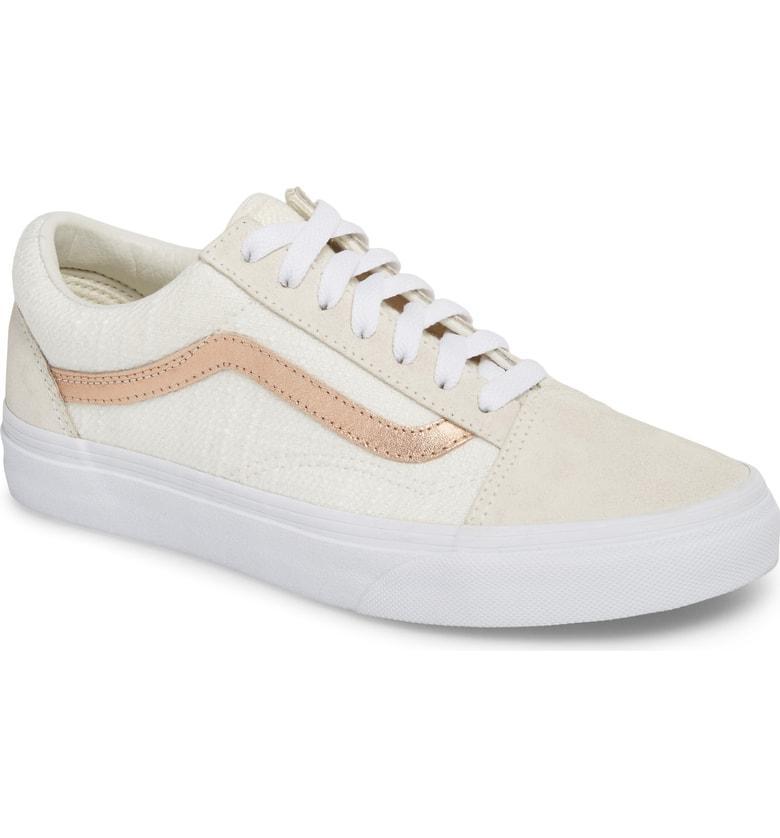 edf9429dd78 Vans Old Skool Sneaker In Blanc De Blanc  Rose Gold