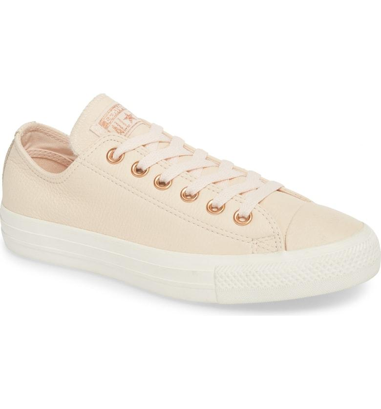 04b8f711f24b Converse Chuck Taylor All Star Seasonal Ox Low Top Sneaker In Pastel Rose  Leather