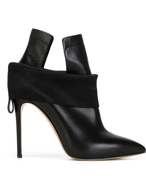 Casadei Banded Stiletto Heel Boots In Black