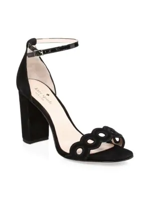 Kate Spade Orson Suede Sandals In Black