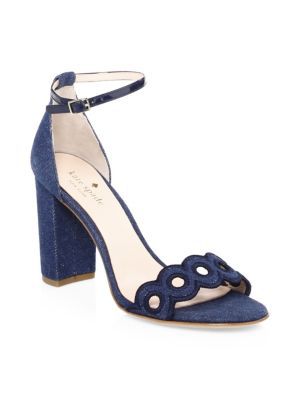 Kate Spade Orson Suede Sandals In Blue