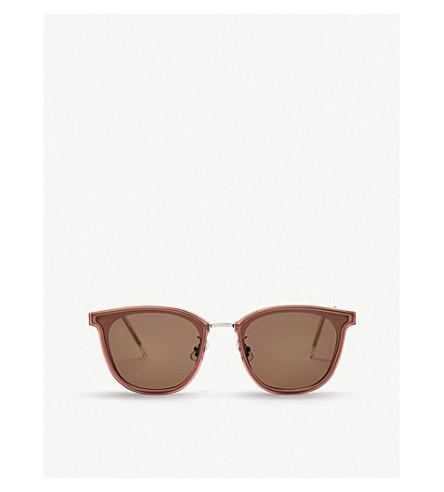 Gentle Monster Pixx Acetate And Stainless Steel Sunglasses In Brown