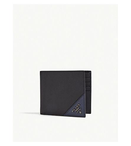Prada Black Saffiano Leather Billfold Wallet In Black Baltico