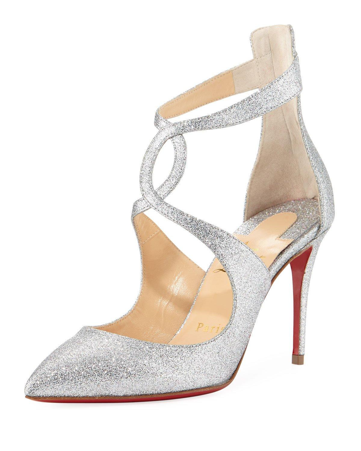 59d155b10b7 Christian Louboutin Rosas 85Mm Red Sole Pumps In Silver