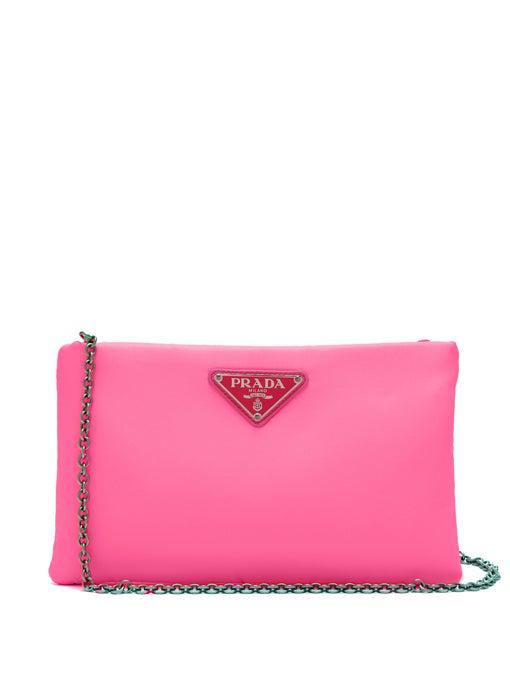 39f39c120280af Prada Clutch Padded Nylon 2 Neon Pink   ModeSens