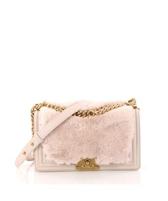 88d565e945fa Chanel Pre-Owned: Boy Flap Bag Fur With Leather Old Medium In Pink ...