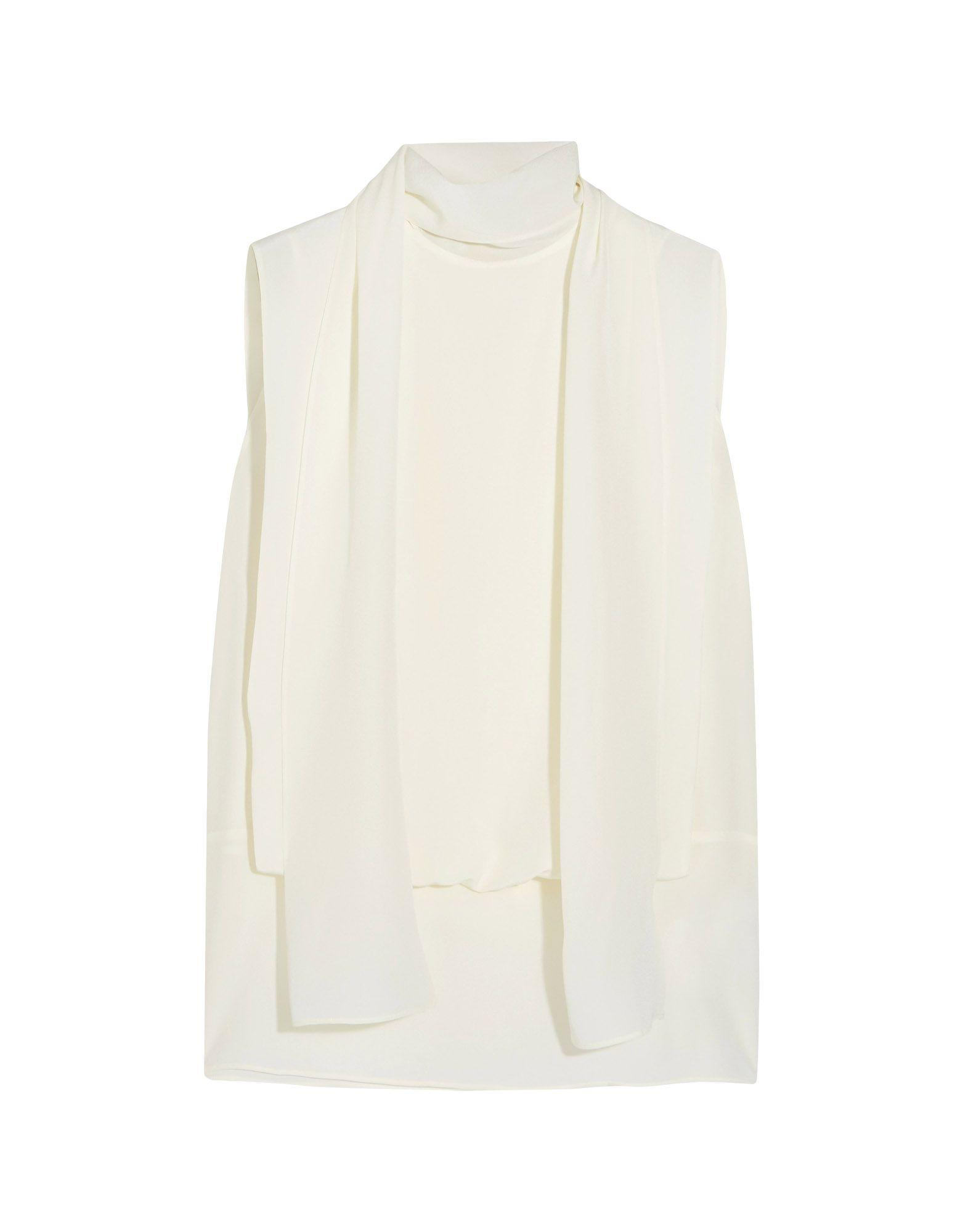 Valentino Silk Top In Ivory