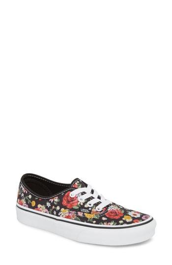 01ca22efc6 Vans Ua Authentic Lux Floral Sneaker In Digi Floral  Black