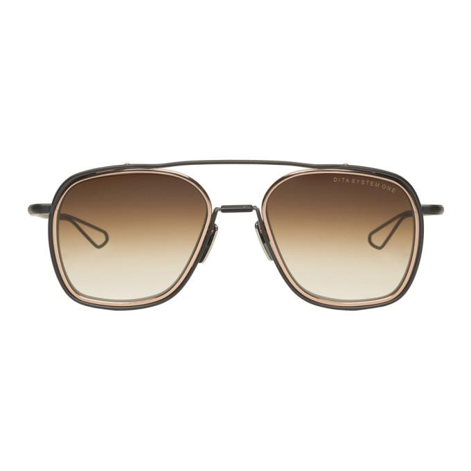 dac552ae6b Dita Brown And Gold System One Sunglasses In Dk Brown