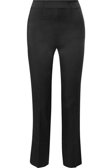 Roland Mouret Cropped Wide Leg Pants In Black
