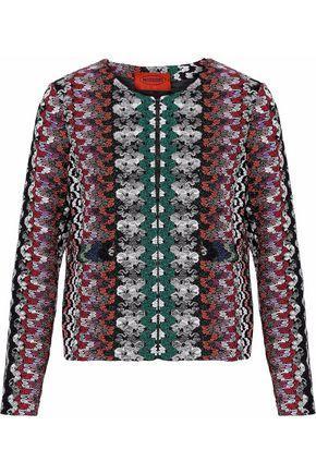 Missoni Woman Metallic Crochet-Knit Jacket Multicolor