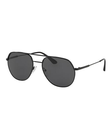 d61f4b06f28 Prada men s metal sunglasses. Easy to wear frame with new metal plaque  temples. Eye bridge temple (in mm) 57-18-140 Fine metal double bridge.