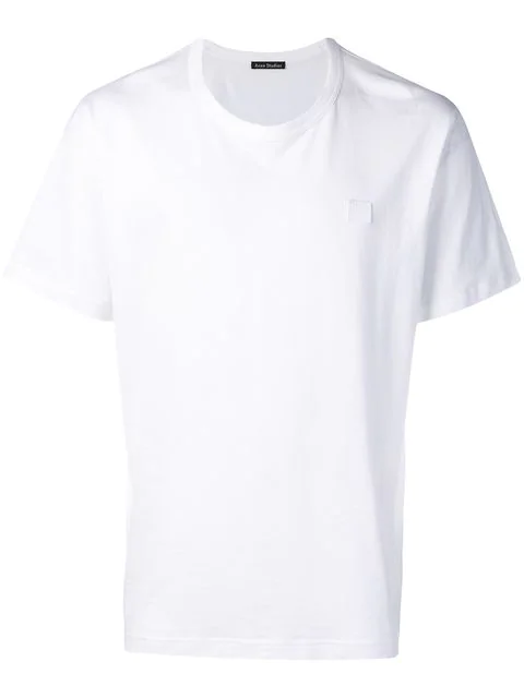 Acne Studios Nash Face Oversized Cotton-jersey T-shirt In Optic White