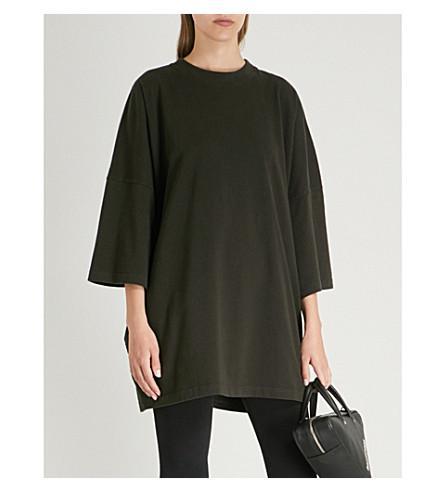 fea01299d37b Balenciaga Ladies Black Ego-Print Oversized Cotton-Jersey T-Shirt ...