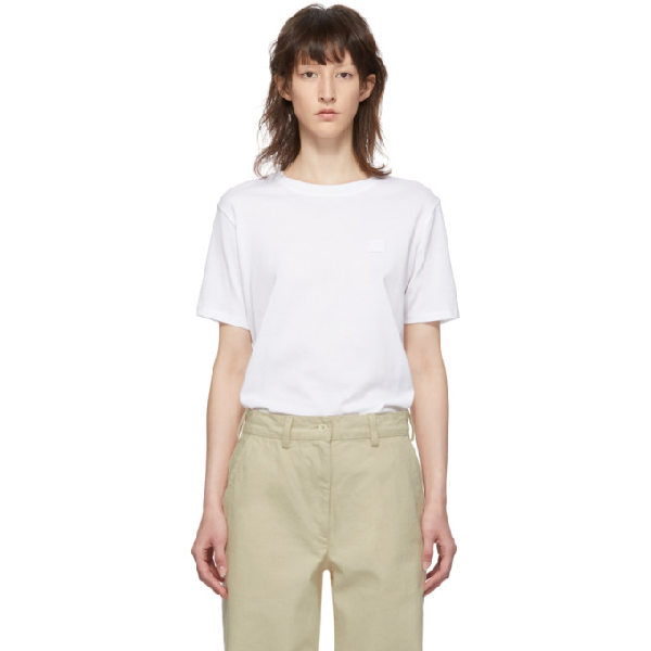 Acne Studios Nash Face Oversized Cotton-jersey T-shirt In Pale Pink