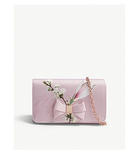 b57791c2d3b054 Ted Baker Harmony Bow Evening Bag In Pale Pink