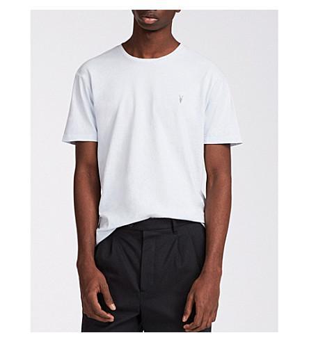Allsaints Ossage Cotton-Jersey T-Shirt In Lattice Blue